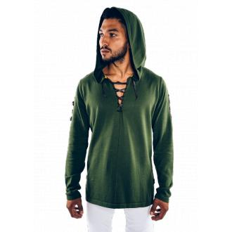 Link Cape Knit-Hoodie